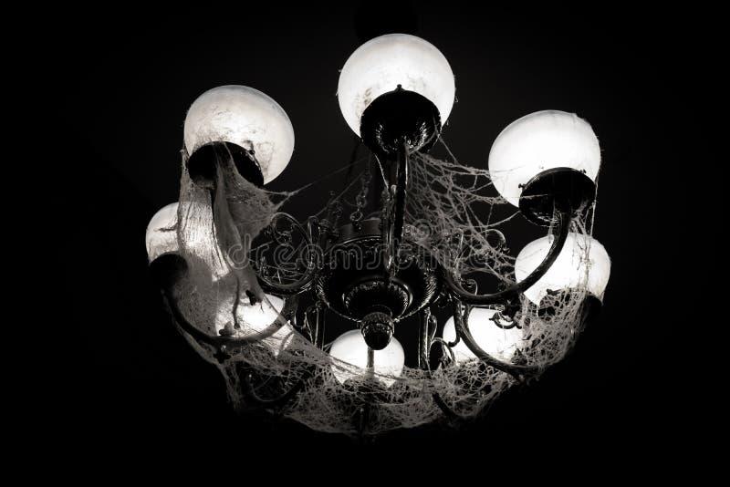 在网的枝形吊灯 库存照片