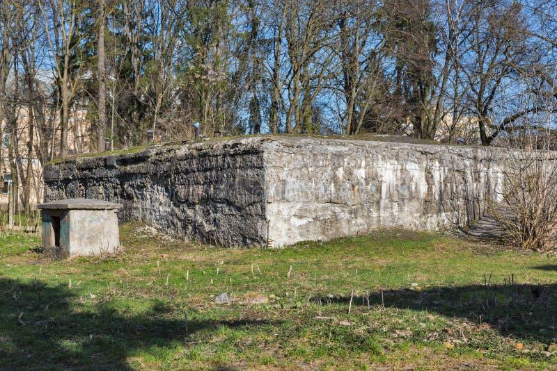 在罗夫诺的德国纳粹防空洞,乌克兰 免版税库存图片