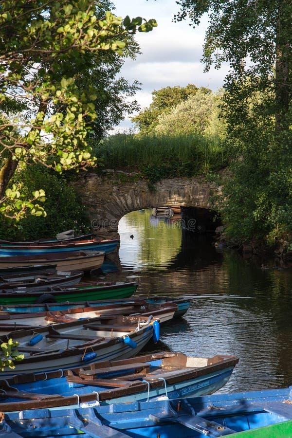 在罗斯城堡附近的老桥梁 免版税库存图片