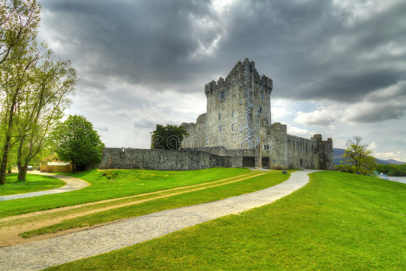 在罗斯附近的城堡co凯利killarney 库存照片