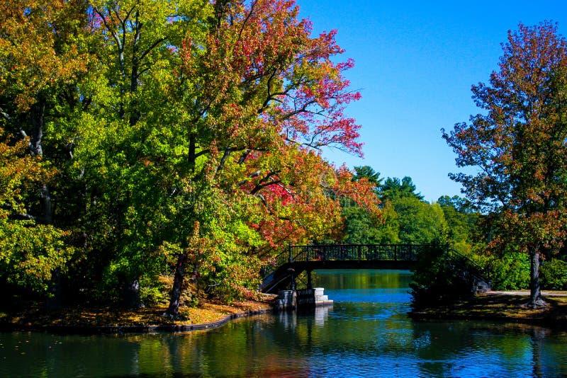 在罗杰威廉斯公园的秋天 免版税库存照片