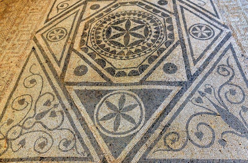 在罗马别墅的古老废墟在里桑,黑山 库存照片