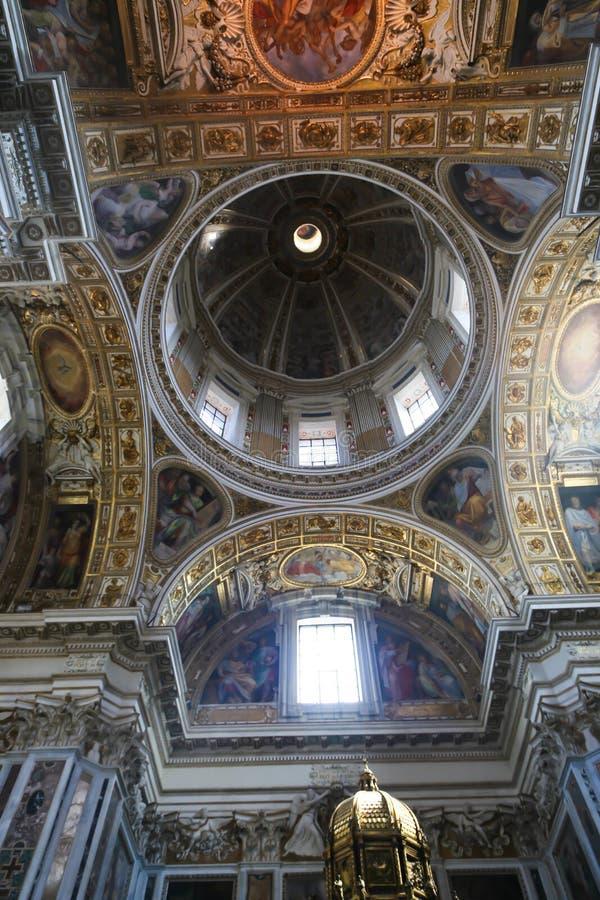 在罗马大教堂的绘画  免版税图库摄影