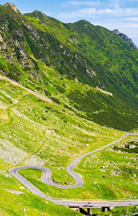 在罗马尼亚山的传奇Tranfagarasan路 库存照片