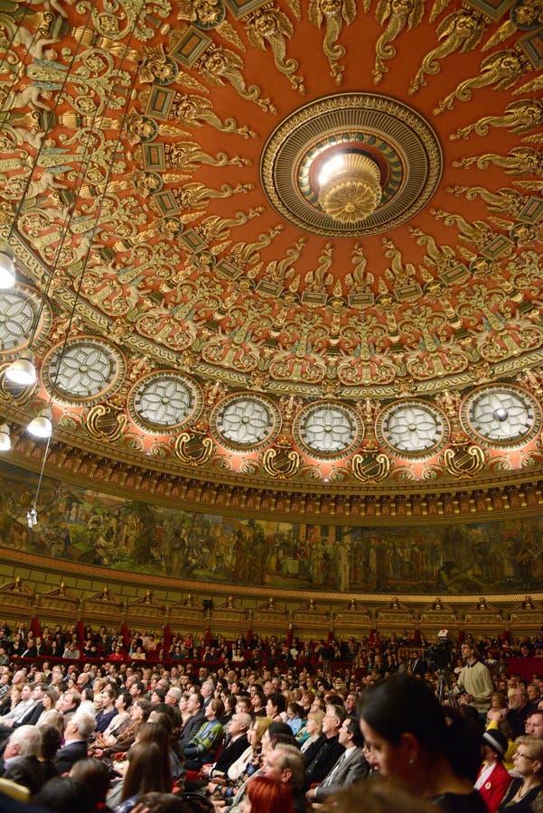 在罗马尼亚庙的音乐会 图库摄影