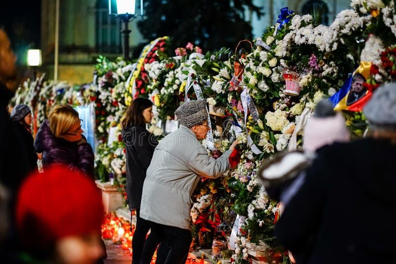在罗马尼亚的Mihai国王死亡memoriam  库存图片