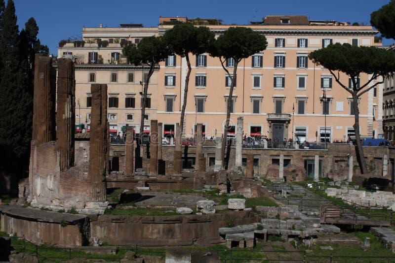 在罗马市街道上的罗马皇帝 免版税库存照片