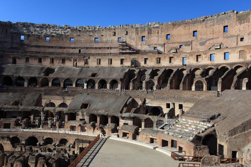 在罗马斗兽场的里面,罗马,意大利 免版税库存照片