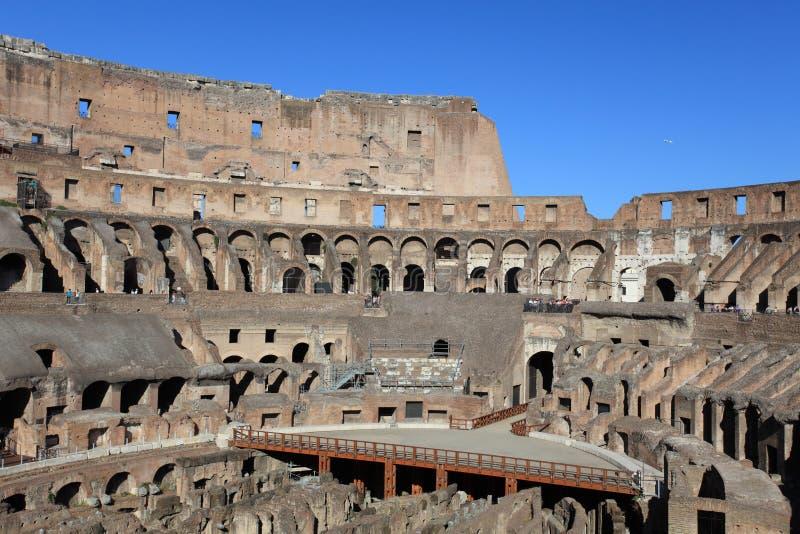 在罗马斗兽场的里面,罗马,意大利 免版税库存图片