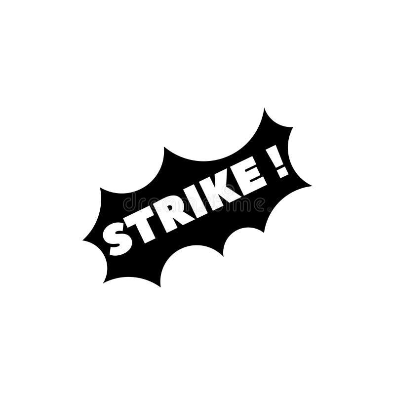 在罢工上写字, Wow,胜利,宾果游戏平的传染媒介象 库存例证