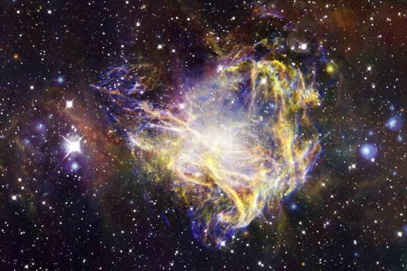 在美丽的不尽的宇宙的星云 令人敬畏为墙纸和印刷品 免版税库存图片