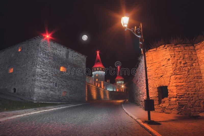 在美丽的古老城堡的充分的心情 库存图片