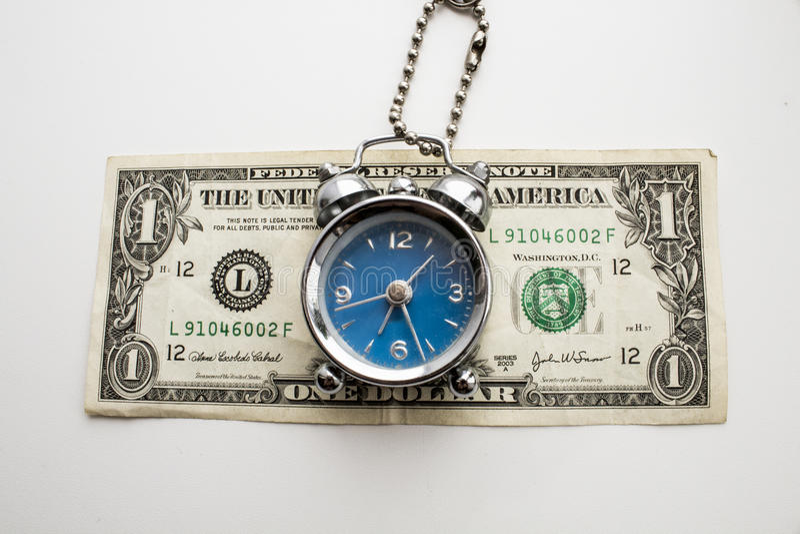 在美元的一点警报 免版税库存照片
