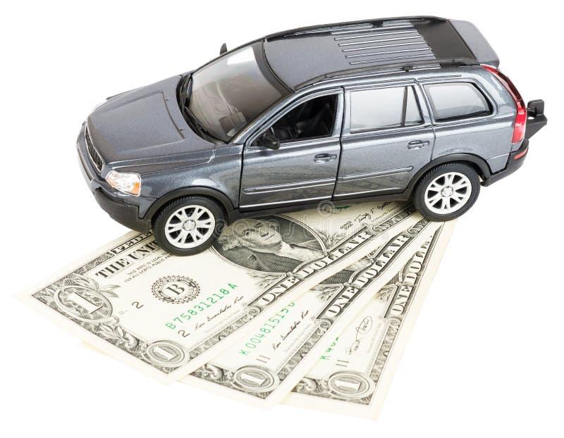 在美元的汽车 免版税库存图片