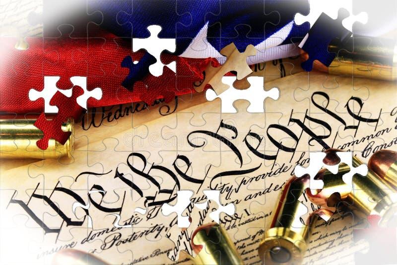 在美国宪法-权利的弹药携带武器 皇族释放例证