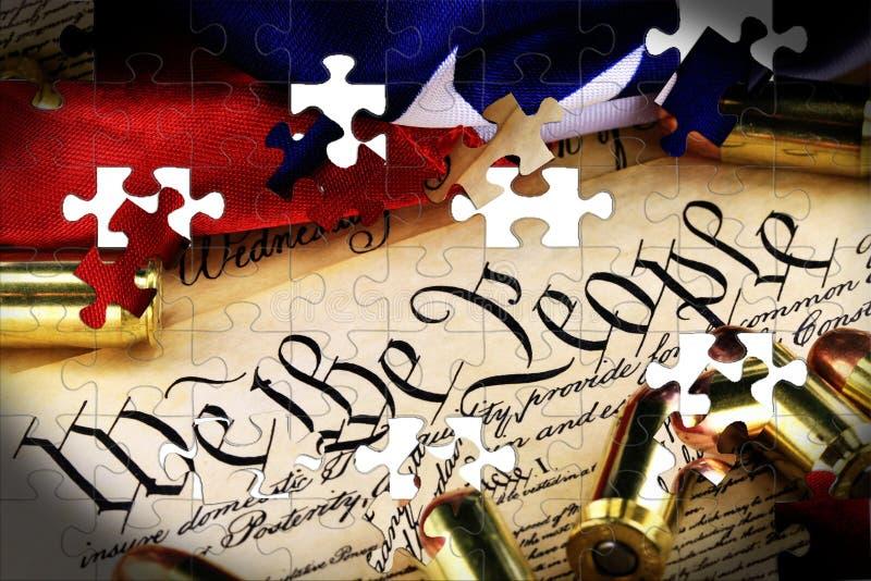 在美国宪法-权利的弹药携带武器 库存例证