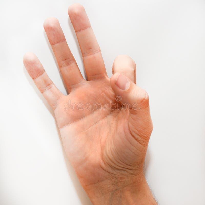 在美国手语& x28的第九; ASL& x29; 库存照片