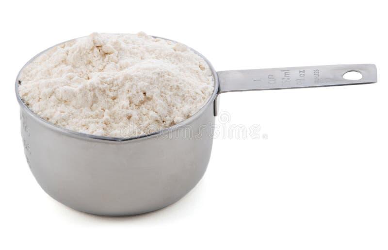 在美国杯子评定存在的无格式/多用途面粉 库存图片