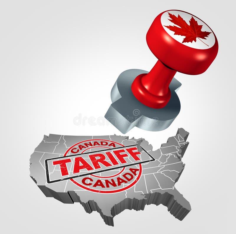 在美国的加拿大关税 向量例证