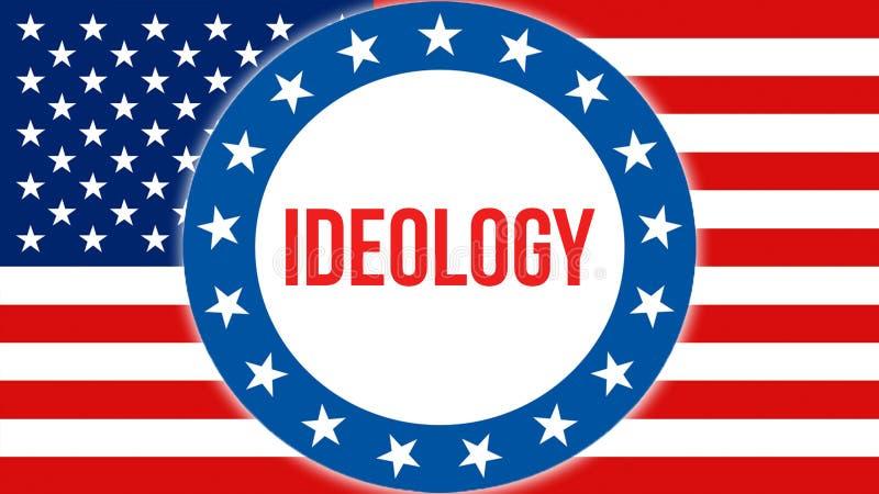 在美国背景的思想体系竞选,3D翻译 美国沙文主义情绪在风 投票,自由民主, 库存例证