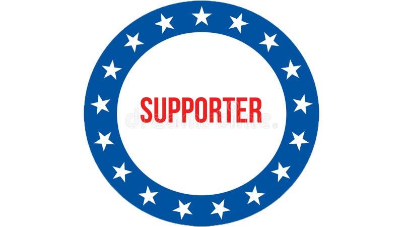 在美国背景的支持者竞选,3D翻译 美国沙文主义情绪在风 投票,自由民主 库存例证
