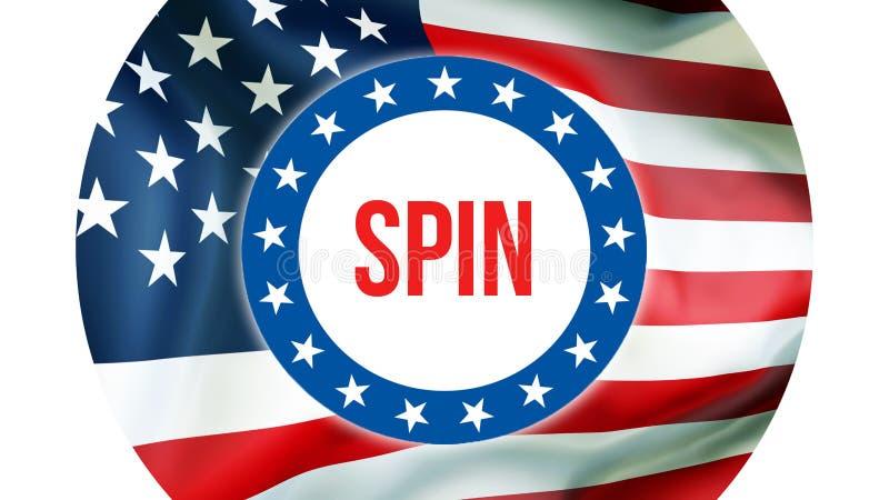 在美国背景的旋转竞选,3D翻译 美国沙文主义情绪在风 投票,自由民主,旋转 皇族释放例证