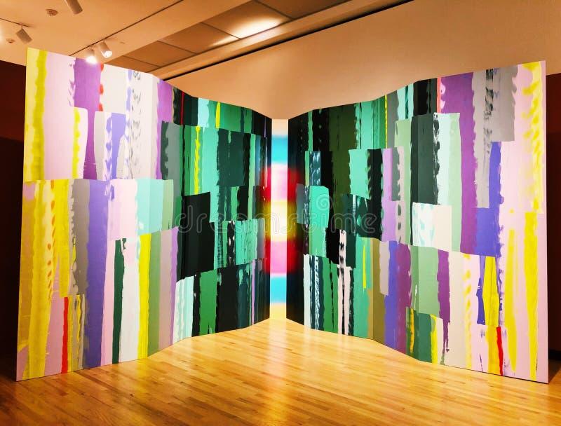 在美国艺术里面新不列颠博物馆的画展  免版税库存图片