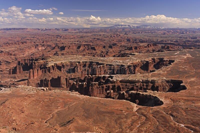 在美国西部的被腐蚀的峡谷 库存照片