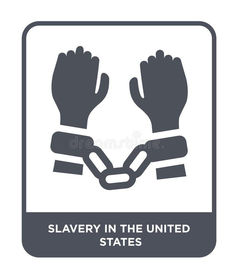 在美国象的奴隶制在时髦设计样式 在白色背景隔绝的美国象的奴隶制 奴隶制 皇族释放例证