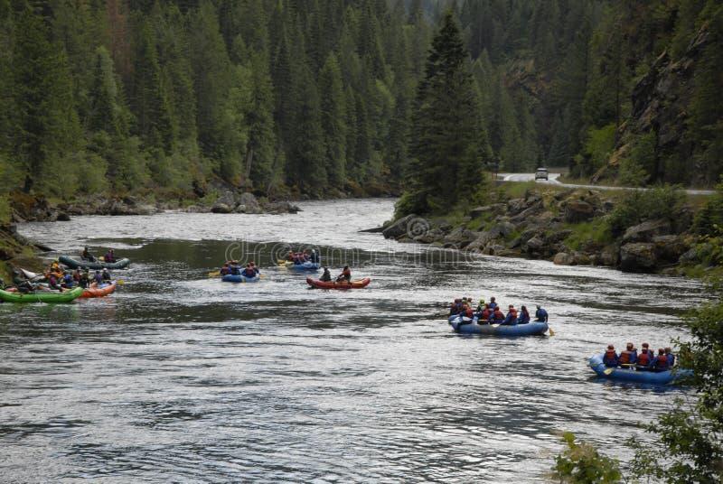 在美国HIGHAY 12 CELAR水河和LOCHSA河的生活 库存照片