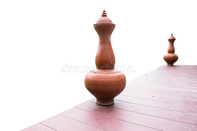 在美好的白色背景的古老瓶子,适用于设计 库存图片