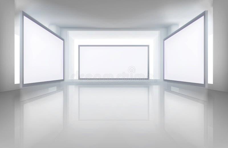 在美术画廊的图片 也corel凹道例证向量 库存例证