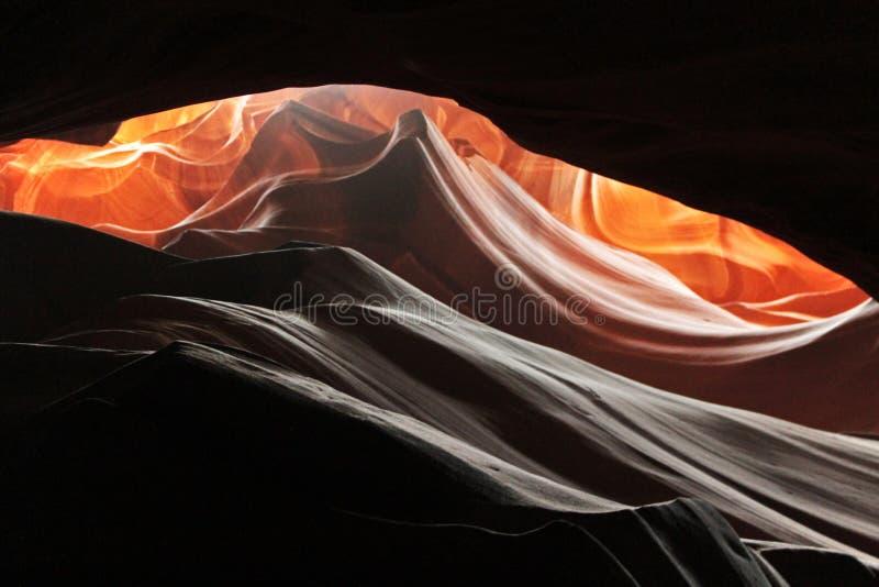 在羚羊峡谷的曲线 免版税图库摄影