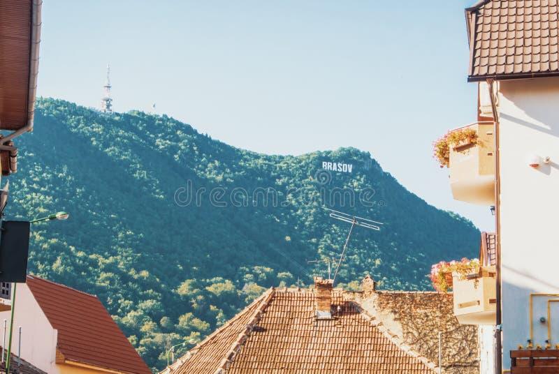 在老五颜六色的中世纪葡萄酒传统屋顶的一个看法  图库摄影