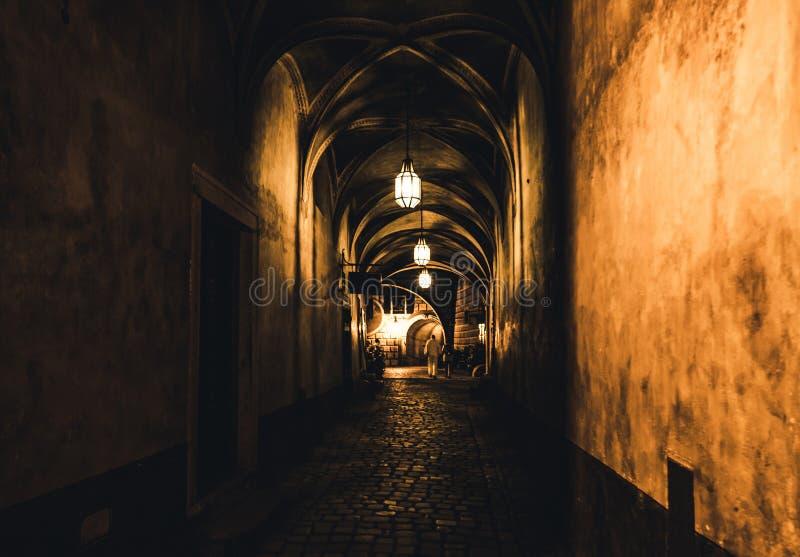 在老土牢的神奇走廊 库存图片