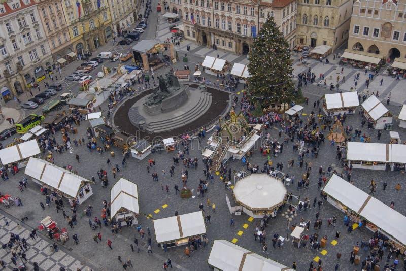 在老城广场的圣诞节市场 库存图片