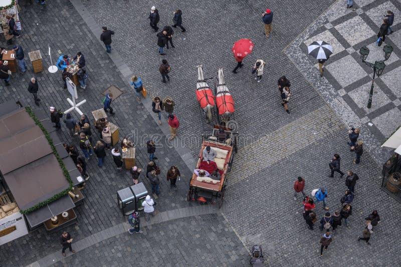 在老城广场的圣诞节市场 免版税库存照片