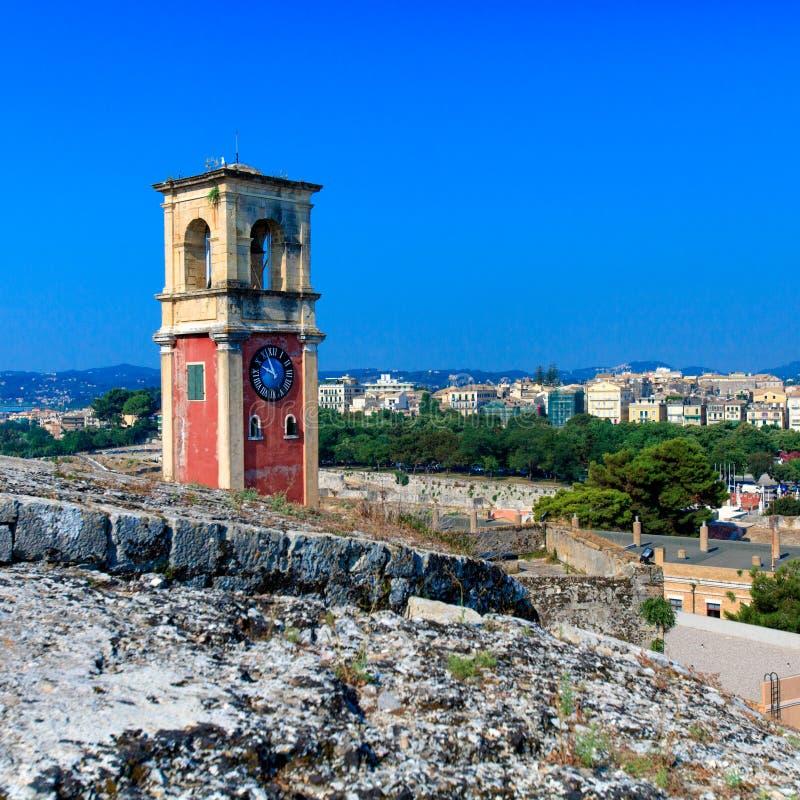 在老堡垒里面, Corfu 库存照片