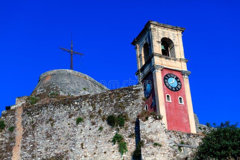 在老堡垒里面, Kerkyra, Corfu 库存照片
