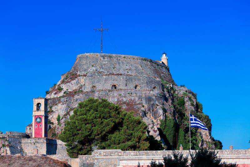在老堡垒里面, Kerkyra, Corfu 免版税库存图片