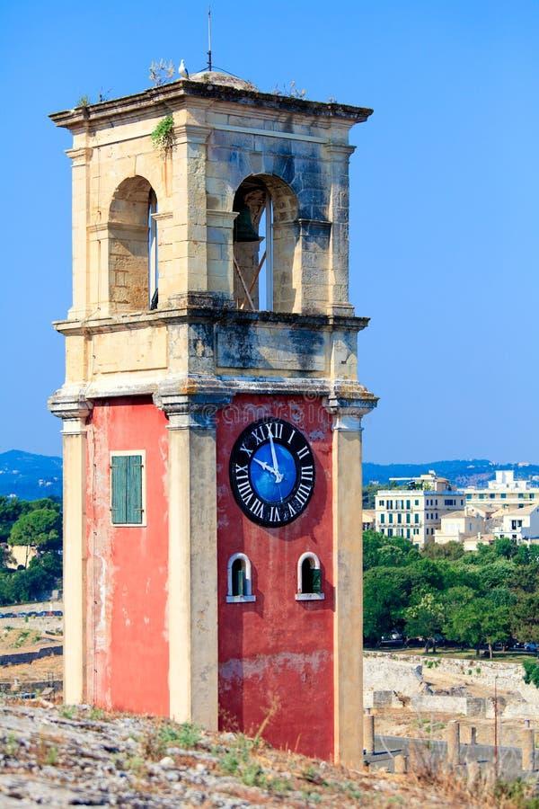 在老堡垒, Corfu里面的英国塔 免版税库存图片
