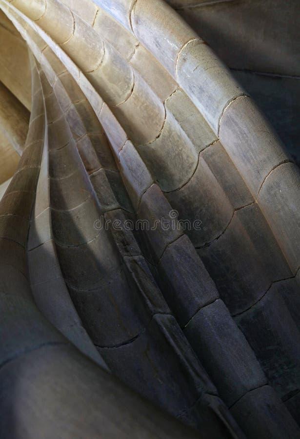 在老塔的螺旋石台阶 免版税图库摄影