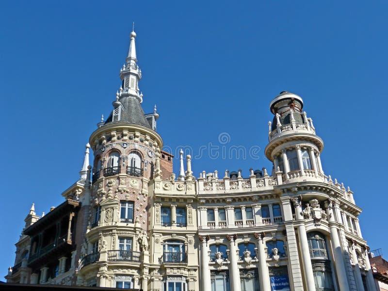 在老大陆欧洲的一个大厦 免版税库存图片