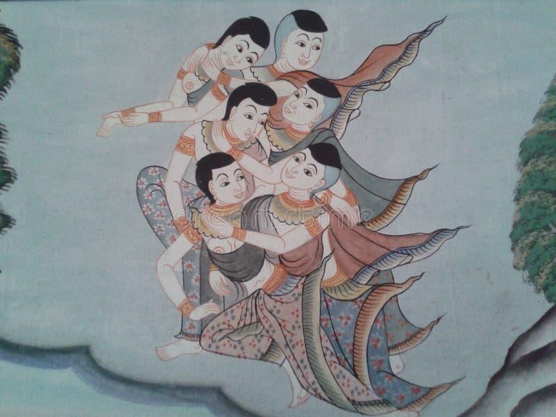 在老泰国文化 免版税图库摄影