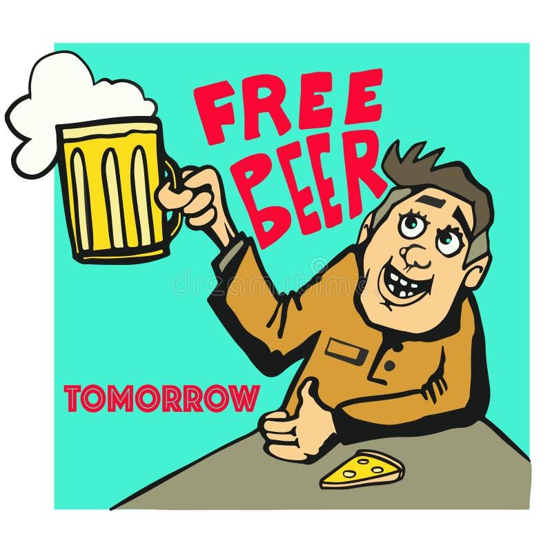 在老牌的自由啤酒明天海报 皇族释放例证
