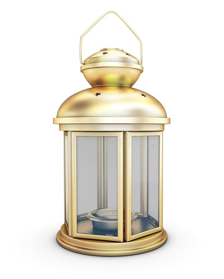 在老牌的金装饰灯笼 皇族释放例证
