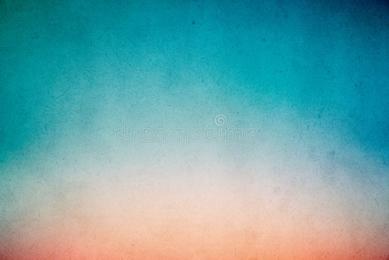 在老纸的五颜六色的青绿的梯度水彩油漆与五谷污点肮脏的纹理摘要 免版税图库摄影