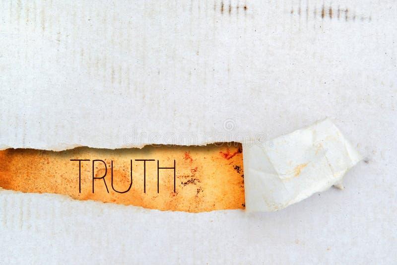 在老纸的真相标题 免版税库存图片