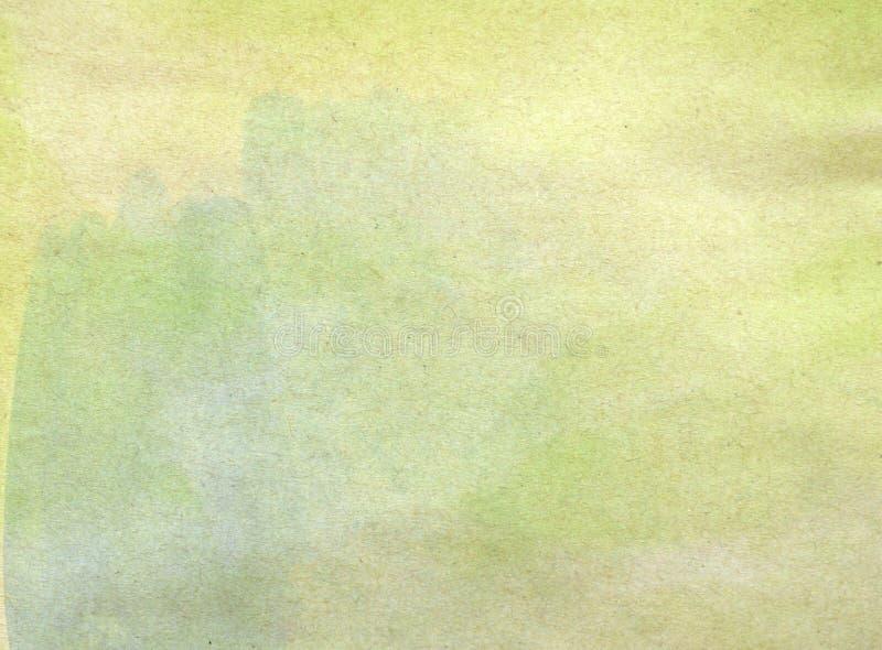 在老纸纹理背景的水彩 库存例证