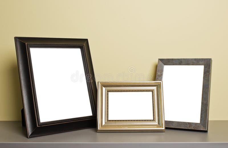 在老表的照片框架 免版税库存照片